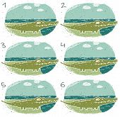 image of brain-teaser  - Crocodile Puzzle Find two identical images  - JPG