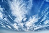 pic of stratus  - The Daytime sky with stratus clouds wide - JPG