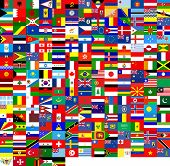 stock photo of flags world  - 240 flags of the world - JPG