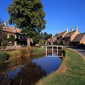Village centre, Lower Slaughter, England.