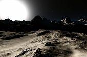 Постер, плакат: Другой планеты 3D рендера