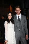 LOS ANGELES - JAN 7:  Abigail Spencer, Josh Pence arrives at the 'Gangster Squad' Premiere at Grauma