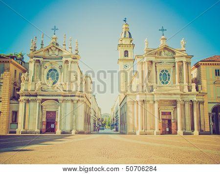 Retro Look Santa Cristina And San Carlo Church