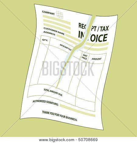 Torn Tax Invoice