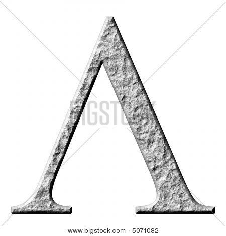 Poster of 3D Stone Greek Letter Lambda