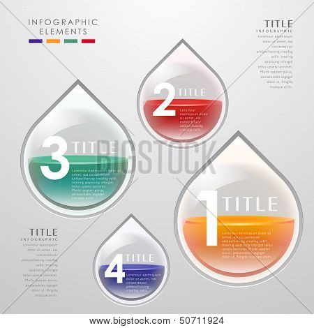 Vector Teardrop-shaped infographics
