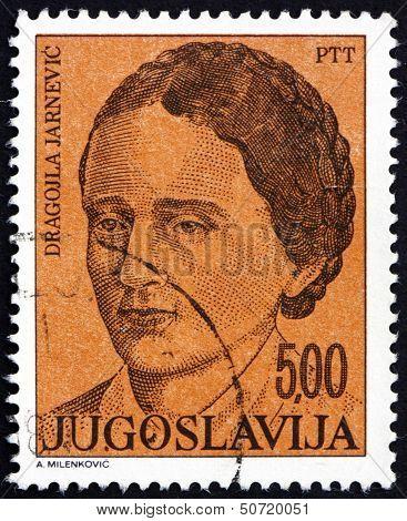 Postage Stamp Yugoslavia 1975 Dragojla Jarnevic, Writer