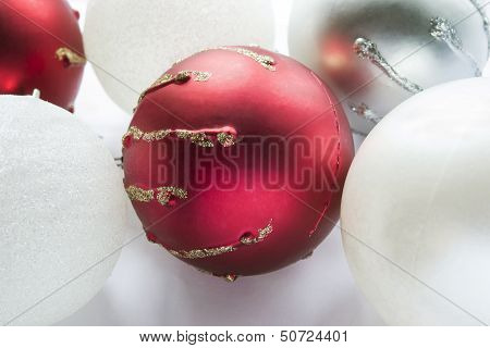 Group Of Christmas Balls