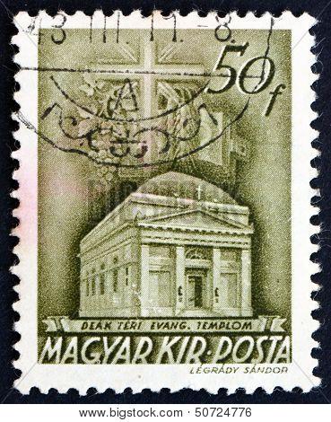 Postage Stamp Hungary 1939 Deak Square Church