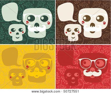 Funny skulls.