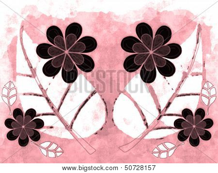 Abstract Colorized Nature Illustration