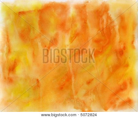Handmade Orange Watercolor Texture