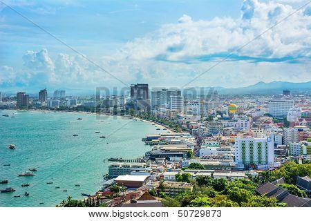 Beautiful Gulf Landscape Of Pattaya, Thailand