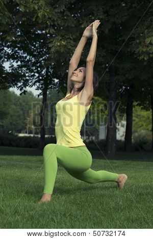 girl engaged in yoga