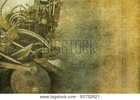 Old Machinery Vintage Background