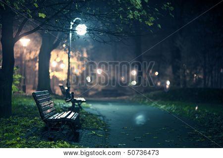 Eine Nacht im Park