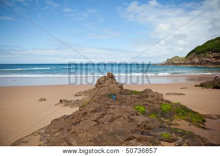Picturesque Greve de Lecq Beach, Jersey, UK