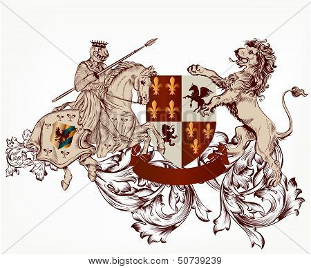 Heraldic Design In Vintage Style
