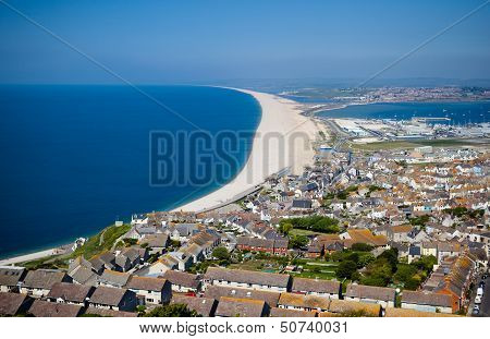 View of Portland from a view point, Dorset, Englan