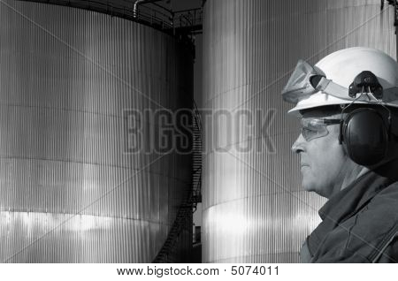 fuel-tanks and oil worker