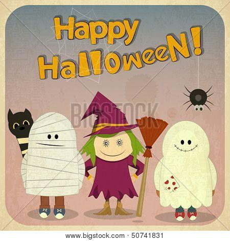 Halloween Retro Card