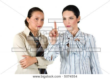 Business Woman With Diagram