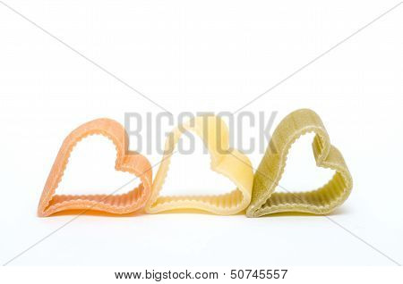 Heart Shaped Italian Pasta