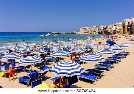 Cefalu beach, Sicily