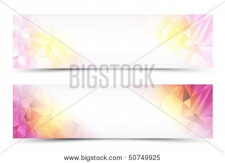Polygon Banner Set