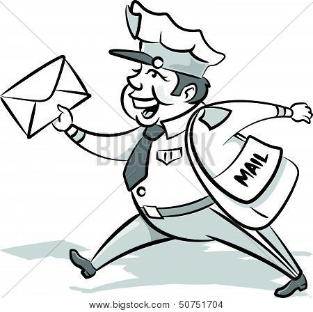 Vintage Cute Mailman