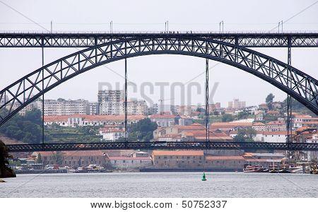 Famous Steel Bridge In Porto(Portugal)