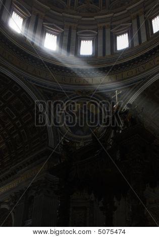 Lightbeams Falling On A Cross