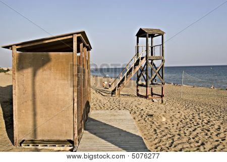 Torre de salvavidas y Cabana en Grecia