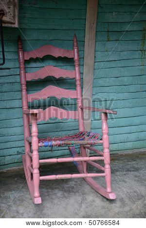 Old Pink Rocking Chair