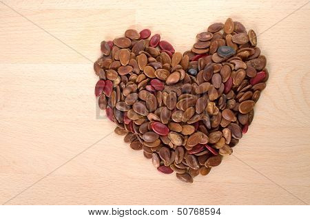 Heart Shape Red Rosted Watermelon Seed