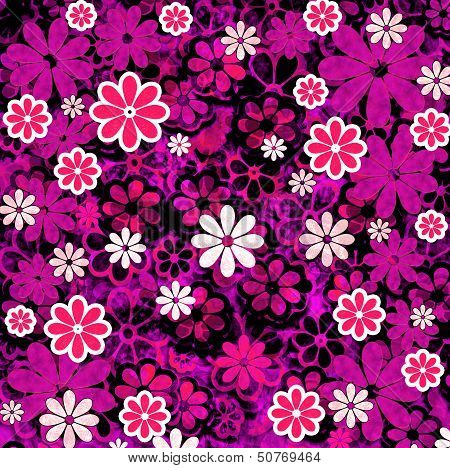 Nature Floral Pattern Pink