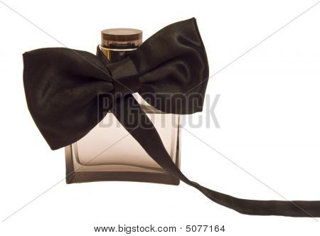 Bottle Of Perfume With A Tuxedo Bow