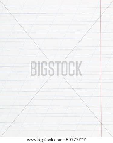 Notebook Narrow Lined Sheet Of Paper