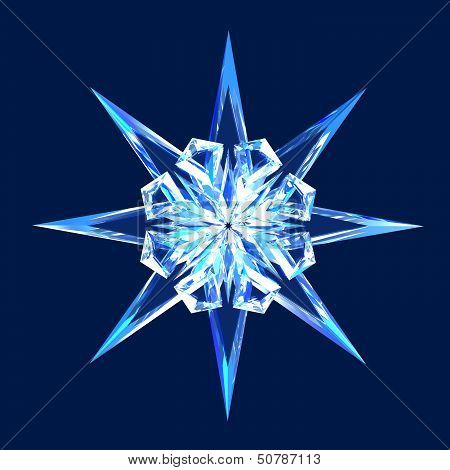 Isolated Diamond Star