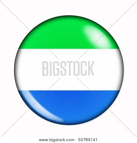 Button Flag Of Sierra Leone