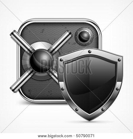 Safe Icon & Shield