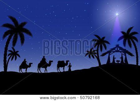 Christian Christmas scene