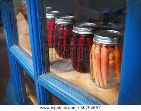 Pickled Vegetables In Mason Jars