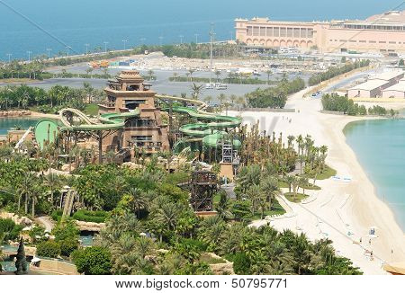 Dubai, Uae - September 11: The New Tower Of Poseidon - Opening 17 September. It Is Located In Aquave