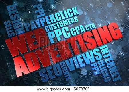 WEB Advertising. Wordcloud Concept.
