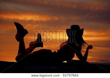 Cowgirl Lay Stomach Silhouette