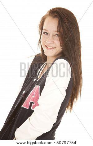 Girl Pose Letterman Jacket