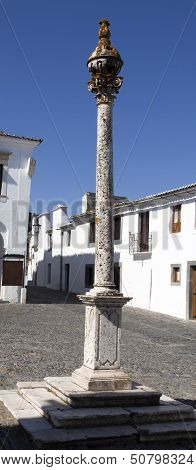 Pillory in Monsaraz, Portugal