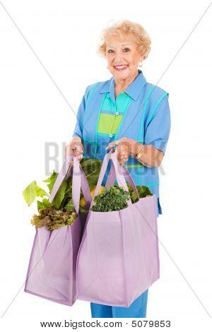 Senior Lady lojas verde