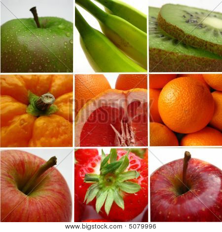 Obst-collage